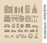 line elements of city.... | Shutterstock . vector #459678796