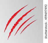 cat claw scratches marks set on ... | Shutterstock .eps vector #459697492