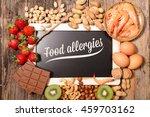 allergy food | Shutterstock . vector #459703162