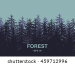 forest background of coniferous ...   Shutterstock .eps vector #459712996