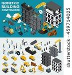 design building isometric view  ... | Shutterstock .eps vector #459714025