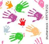 family handprint seamless... | Shutterstock .eps vector #459719152
