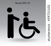 disabled vector illustration   Shutterstock .eps vector #459721102
