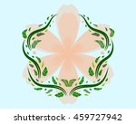 abstract illustration of plants ... | Shutterstock .eps vector #459727942