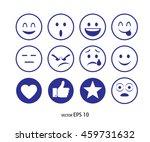 set of emoticons | Shutterstock .eps vector #459731632
