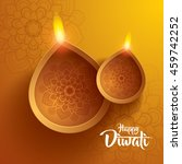 happy diwali. traditional... | Shutterstock .eps vector #459742252