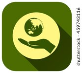 globe earth with hand icon ...
