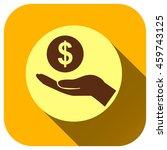 hand of money vector icon  logo ...