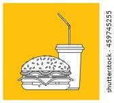 fast food set. vector fast food ...   Shutterstock .eps vector #459745255