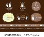 vector lactose free signs | Shutterstock .eps vector #459748612