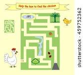 kids homework how  help a hen... | Shutterstock .eps vector #459752362
