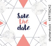 save the date wedding... | Shutterstock .eps vector #459758242