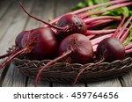 fresh beets on wooden... | Shutterstock . vector #459764656