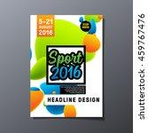 summer sport 2016  design for... | Shutterstock .eps vector #459767476