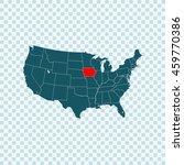 map of iowa | Shutterstock .eps vector #459770386