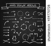 chalk hand drawn arrows on... | Shutterstock .eps vector #459770728