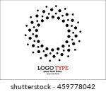 abstract halftone logo design... | Shutterstock .eps vector #459778042