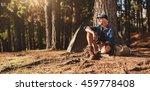 portrait of senior man sitting... | Shutterstock . vector #459778408