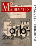 mathematics. vector cover. a... | Shutterstock .eps vector #459779326