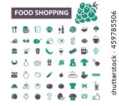food shopping icons   Shutterstock .eps vector #459785506