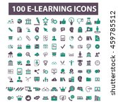 learning icons | Shutterstock .eps vector #459785512