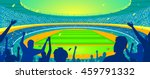 colorful stadium with a crowd ... | Shutterstock .eps vector #459791332