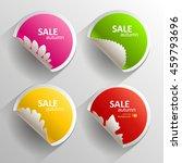 autumn set of stickers. vector...   Shutterstock .eps vector #459793696