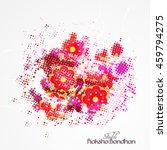 beautiful creative rakhi ... | Shutterstock .eps vector #459794275