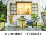 decoration placed in rustic... | Shutterstock . vector #459800056