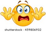 emoticon with hands up. showing ... | Shutterstock .eps vector #459806932