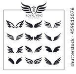 wings icons vector set | Shutterstock .eps vector #459813076