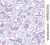 seamless pattern with school...   Shutterstock .eps vector #459825556