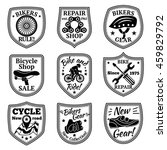 bicycle badges vector set. with ... | Shutterstock .eps vector #459829792