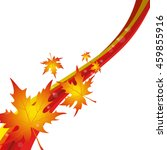 background with maple leaves | Shutterstock .eps vector #459855916