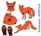fox set | Shutterstock .eps vector #459857578
