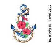 hibiscus flowers. pattern... | Shutterstock .eps vector #459862606