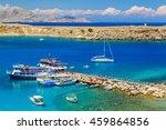 greece. rhodes island. the town ... | Shutterstock . vector #459864856