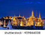 grand palace and wat phra keaw... | Shutterstock . vector #459866038