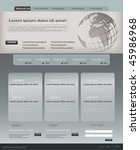 editable website template   Shutterstock .eps vector #45986968
