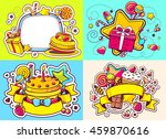 vector creative colorful set of ... | Shutterstock .eps vector #459870616