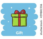 gift  icon isolated on...