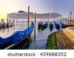 Venice With Gondolas On Grand...