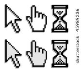 vector pixel cursors with real... | Shutterstock .eps vector #45989236