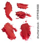 smashed matte red lipstick | Shutterstock . vector #459908488