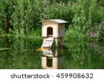 Wooden House On The Pond For...