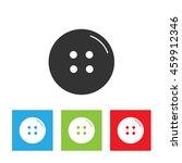 cloth button icon. simple logo... | Shutterstock .eps vector #459912346
