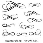 black stencil | Shutterstock .eps vector #45991531