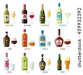 alcohol drinks icon set.... | Shutterstock .eps vector #459932392