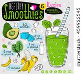 healthy smoothie recipe set.... | Shutterstock .eps vector #459932545