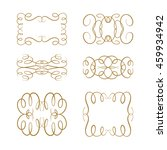 set of elegant flourishes for...   Shutterstock .eps vector #459934942